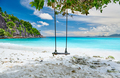 Beautiful Petite Anse beach at Seychelles - PhotoDune Item for Sale