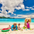 Family with three year old boy on beach - PhotoDune Item for Sale