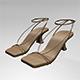 Square-Toe Block-Heel Ankle-Strap Sandals 01 - 3DOcean Item for Sale