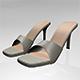 Peep-Toe High-Heel Slide Sandals 01 - 3DOcean Item for Sale