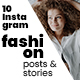 10 Instagram Fashion Posts And Stories - GraphicRiver Item for Sale