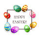 Set of Colored Easter Eggs on White Background - GraphicRiver Item for Sale