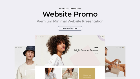 preview - Clean Minimal Website Promo