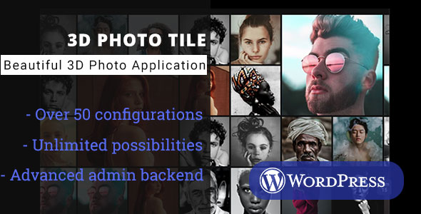 3D Photo Tile - WordPress Media Plugin