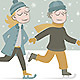Two Kids Ice Skating - GraphicRiver Item for Sale