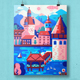 Switzerland Travel Poster with Lucerne - GraphicRiver Item for Sale