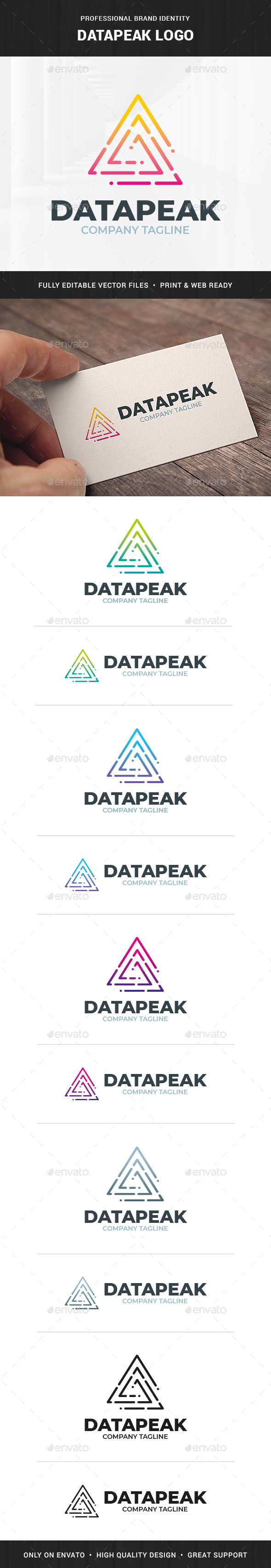 Datapeak Logo Template