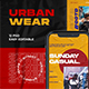 Urban Wear PSD Instagram Template - GraphicRiver Item for Sale