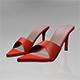 Pointy-Toe High-Heel Slide Sandals 01 - 3DOcean Item for Sale