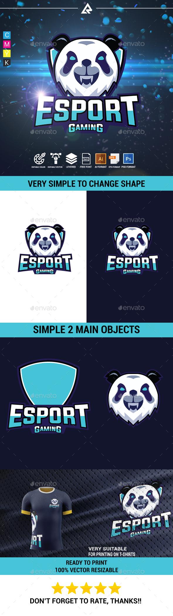 Angry Panda Esport Logo