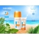 Sunscreen Tube Product on Tropical Summer Beach - GraphicRiver Item for Sale