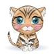 Black Footed Cat in Cartoon Style - GraphicRiver Item for Sale