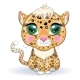 Leopard with Eyes in Cartoon Style - GraphicRiver Item for Sale