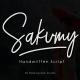 Sakumy Handwritten Script - GraphicRiver Item for Sale