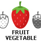 55 Fruit and Vegetable icons - GraphicRiver Item for Sale