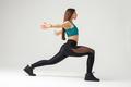 athletic muscular woman studio photo - PhotoDune Item for Sale