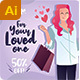Valentine's Women's Day Social Media Feed - GraphicRiver Item for Sale