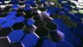 Hexagon Background Blue - PhotoDune Item for Sale