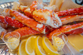 Red king crab legs with fresh lemon slices - PhotoDune Item for Sale