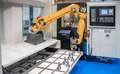 Robotic Arm modern industrial technology. Automated production cell. - PhotoDune Item for Sale