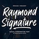 Raymond Signature Font - GraphicRiver Item for Sale