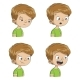 Boy Shows Four Emotions - GraphicRiver Item for Sale