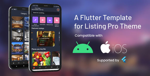 A Flutter App Template Dedicated for Listing Pro