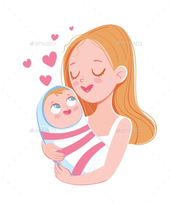 Mom Holds Baby