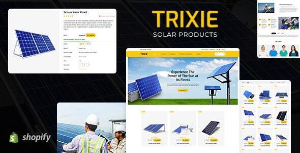 Trixe - Solar Responsive Shopify Template