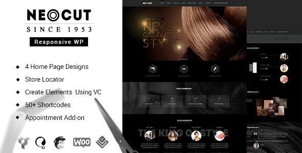 Neo Salon | Barber Shop WordPress Theme