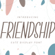 Friendship - Cute Display Font - GraphicRiver Item for Sale