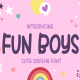 Fun Boys - Cute Display Font - GraphicRiver Item for Sale