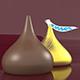 Hersheys Kisses Brown Milk Choclate - 3DOcean Item for Sale