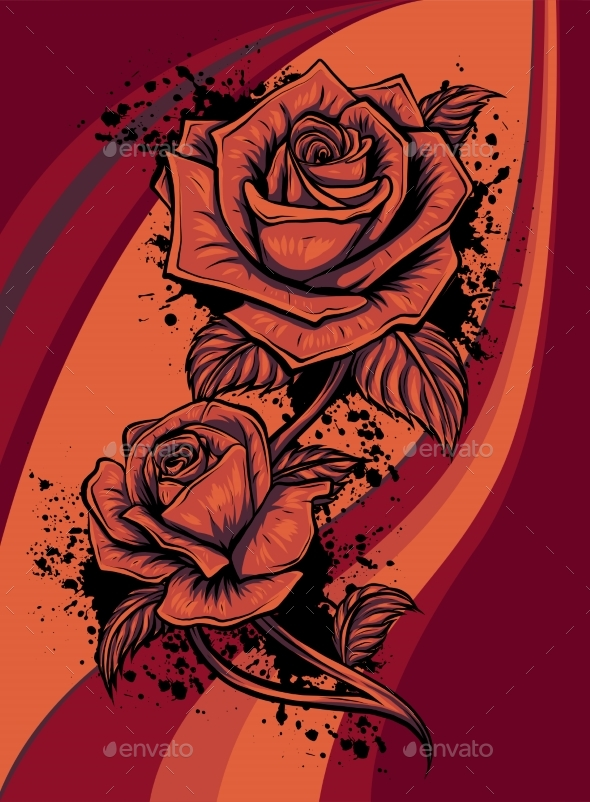 Rose Flower Vector Design Beautiful Rose Flower