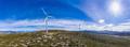 Wind turbines, renewable energy on a green hill. Wind farm - PhotoDune Item for Sale