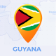 Guyana Map - Co-operative Republic of Guyana Travel Map - VideoHive Item for Sale