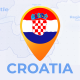 Croatia Map - Republic of Croatia Travel Map - VideoHive Item for Sale