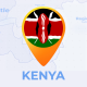 Kenya Map - Republic of Kenya Travel Map - VideoHive Item for Sale