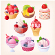 Set of Vector Berry Desserts - GraphicRiver Item for Sale
