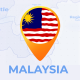 Malaysia Map - Malaysia Travel Map - VideoHive Item for Sale