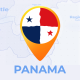 Panama Map - Republic of Panama Travel Map - VideoHive Item for Sale