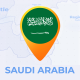 Saudi Arabia Map - Kingdom of Saudi Arabia Travel Map - VideoHive Item for Sale