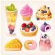 Set of Vector Fruit Desserts - GraphicRiver Item for Sale