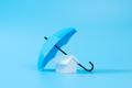 House model under blue color umbrella - PhotoDune Item for Sale