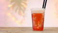 fresh pink soft drink in plastic take away cup - PhotoDune Item for Sale