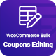WooCommerce Bulk Coupons Editing - CodeCanyon Item for Sale