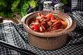 Traditional Ukrainian borscht with cream. - PhotoDune Item for Sale