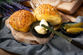 Tasty buns with cheese and sunflower seeds. - PhotoDune Item for Sale