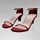 Round-Toe Ankle-Strap Chunky-Heel Sandals 01 - 3DOcean Item for Sale