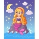 The Mermaid Sits on a Stone Above the Sea - GraphicRiver Item for Sale
